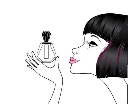 parfume: Lady with parfume Illustration