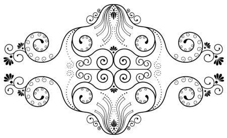 crouch: Vector floral elements.Vegnette Illustration