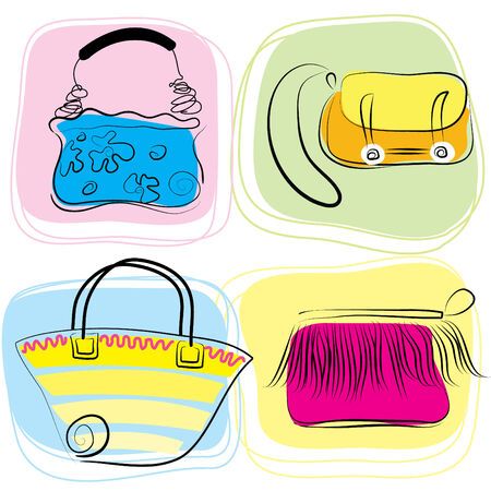 for women: Bolsas de color vectorial para las mujeres