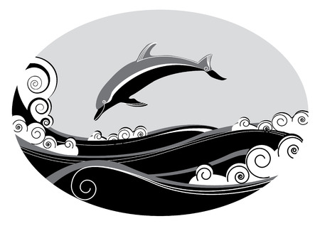 Dolphin. Vector graphic Vector