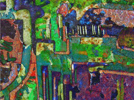 Grunge texture. Collage photo