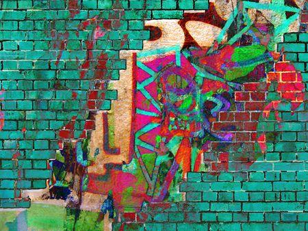Graffiti texture. Résumé collage.