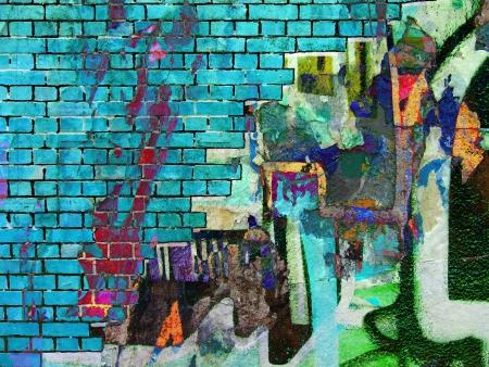 wand graffiti: Graffiti Collage. Abstract Textur