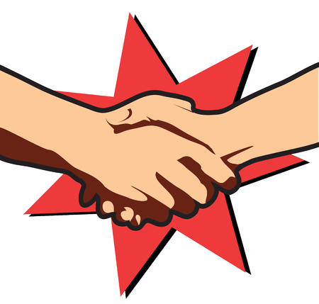 Business deal.Vector hands  Vector