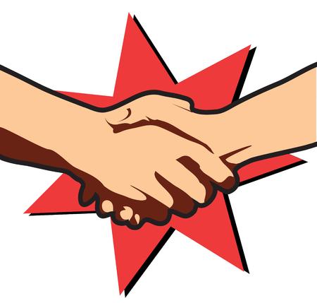 Business deal.Vector hands