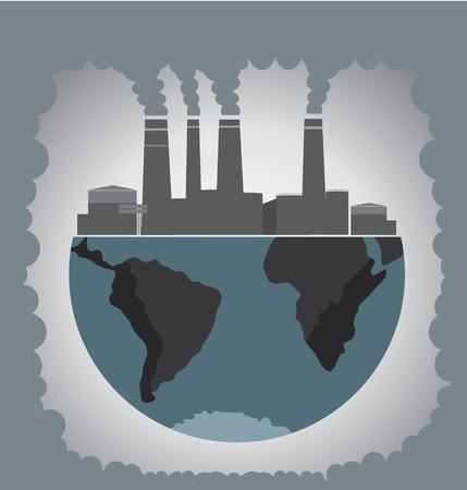 Fabrik Verunreinigung.  Vektorgrafik