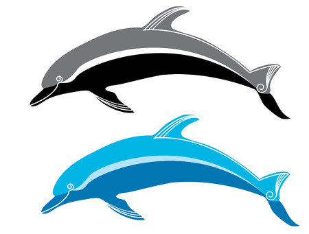 dolphin silhouette: dolphins.