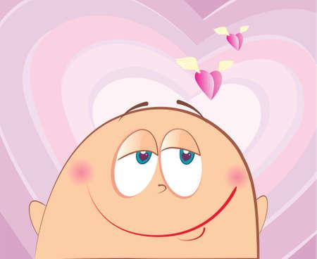 face love.Cartoons face Stock Vector - 6000583