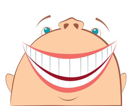 laughing face. Cartoon symbol of fun Vector