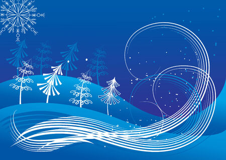 Vector blue Christmas background Vector