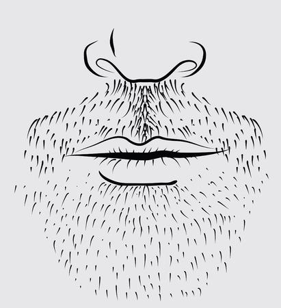 Vector man's beard
