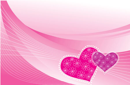 Valentins postcard.  pink greeting background Vector