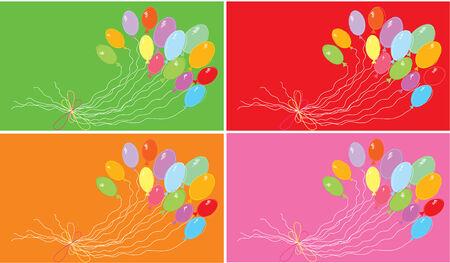 Color ballons background.Vector postcard Stock Vector - 6368598