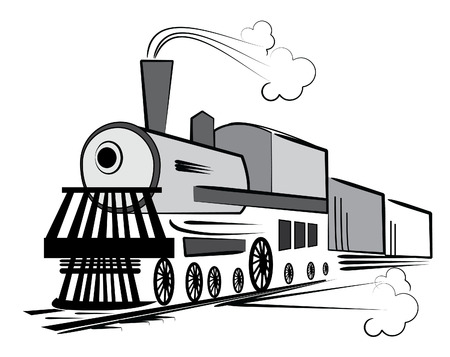 Vector old train. Retro transport Stock Vector - 6514281