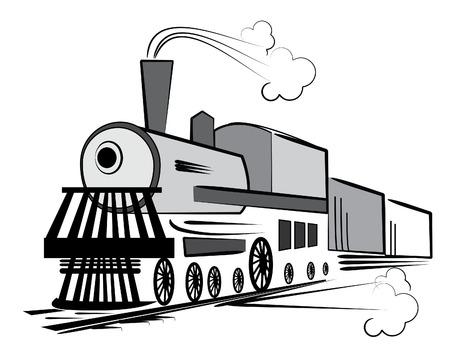 Vecteur ancien train. Transport Retro