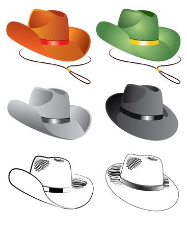 hats for men on white