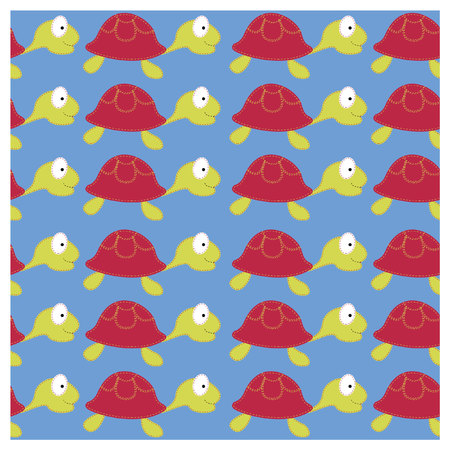 Vector turtle background. SEamless Vector