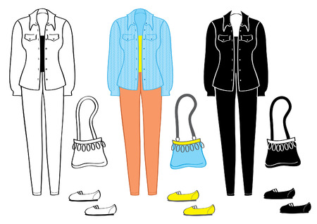 Fashion clothes and accessories for women .Vector Stock Vector - 6763484