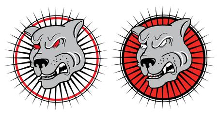 angry dog: Angry dog. symbol of danger