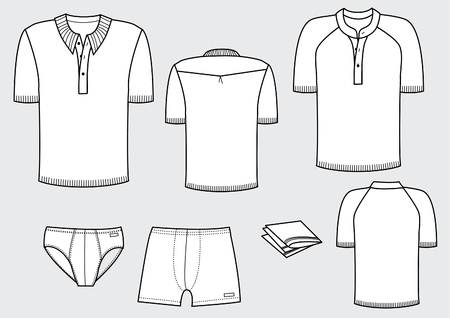 t-shirts and underwear for man  Vector