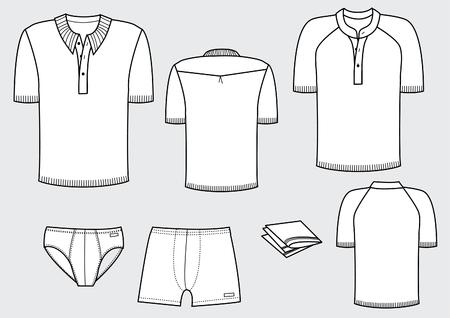 mann unterw�sche:  T-Shirts und Unterw�sche f�r Mann  Illustration