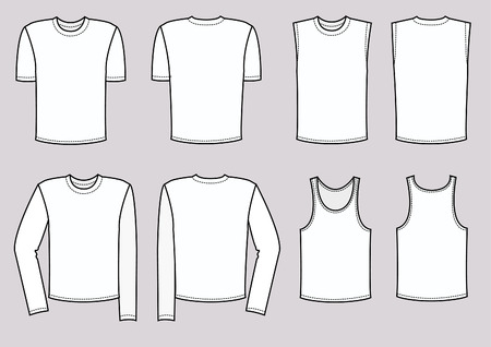 T-shirts for man. clothes Vector