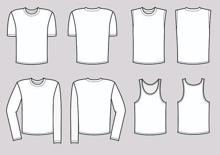 white underwear: T-Shirts per uomo. vestiti  Vettoriali