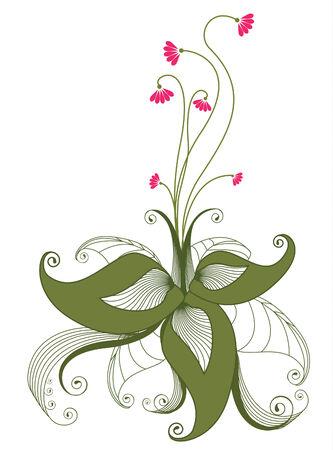 Flower elements on white Stock Vector - 6833984