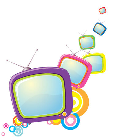 restyled: retro televisions. Abstract Illustration