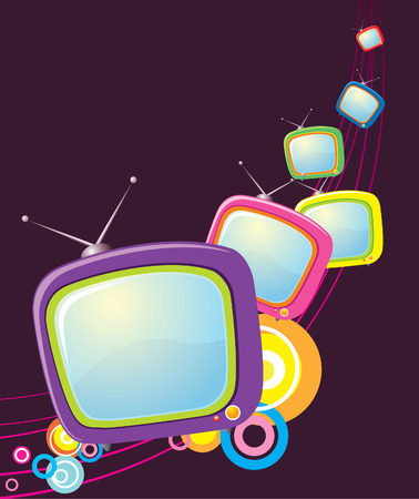 restyled: Color televisions. abstract technology