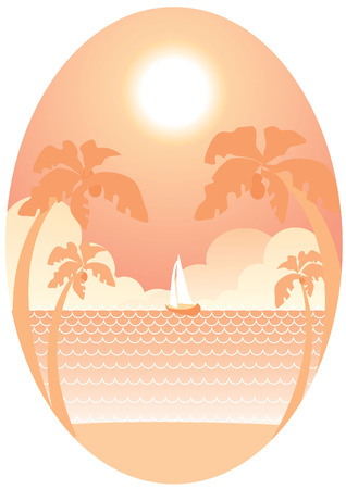 sea and palms in summer Stock Vector - 7127595