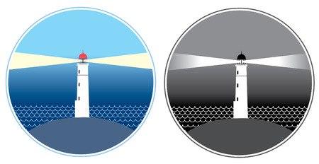 Vector lighthouse.Icons. Vector