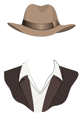 man  fashion clothes for template Stock Vector - 7278817