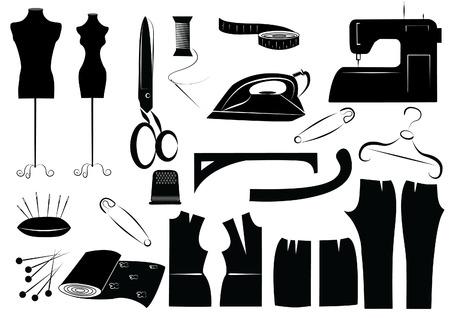 clothes cartoon: sewing equipment .Symbol