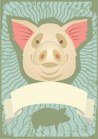 male pig: Pig symbol.