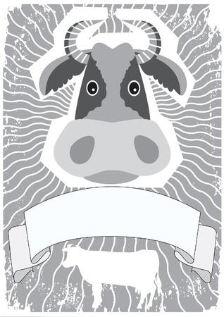 Cow symbol. Vector