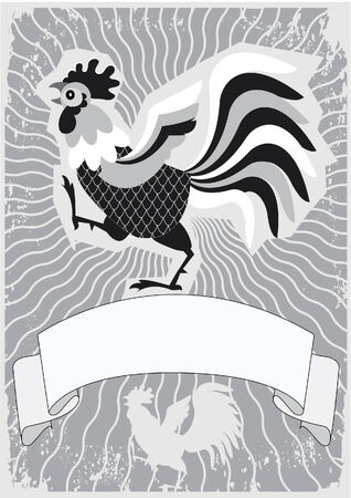 Rooster symbol for text. Stock Vector - 7535114