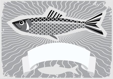 Affiche de poissons. Vecteurs