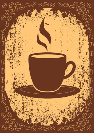 Cup of coffee.Vintage style Vector