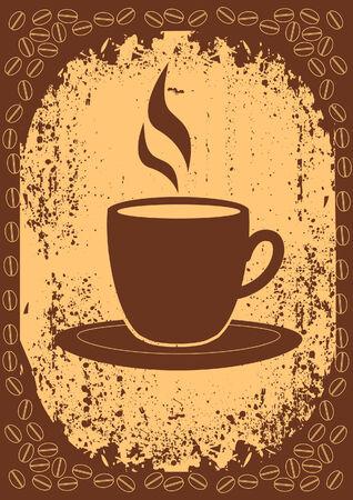 hot chocolate drink: Taza de estilo coffee.Vintage