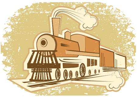 Estilo de Locomotive.Vintage  Ilustración de vector