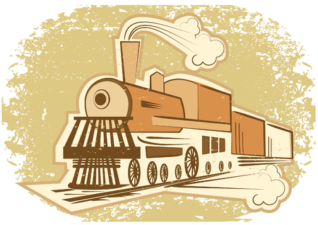obsolete: Locomotive.Vintage style