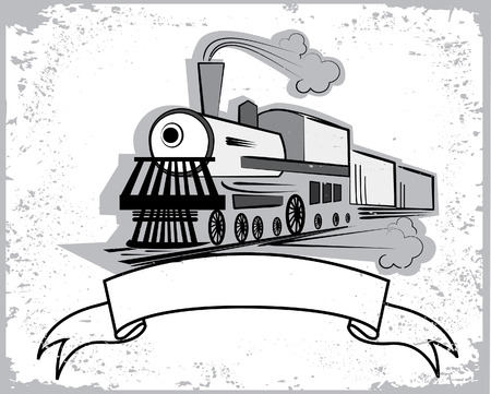 Locomotive.Graphic  for text Vector