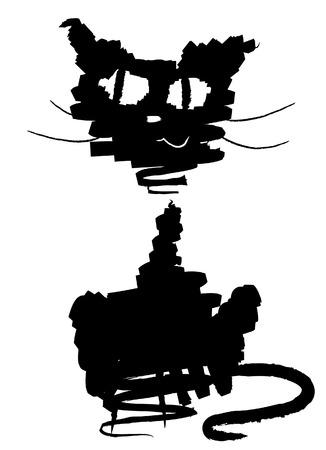 haloween: Black cat. Vector Haloween