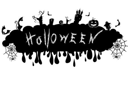 Halloween symbol.Vector black silhouette Vector