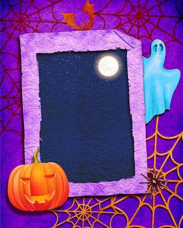 Halloween background collage. Stock Photo - 7812852