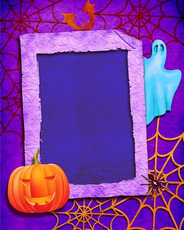 Background .Halloween collage photo