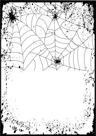 spider cartoon: Vector grunge .Web background graphic