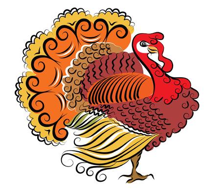 tacchino: Colore Turchia giorno del ringraziamento