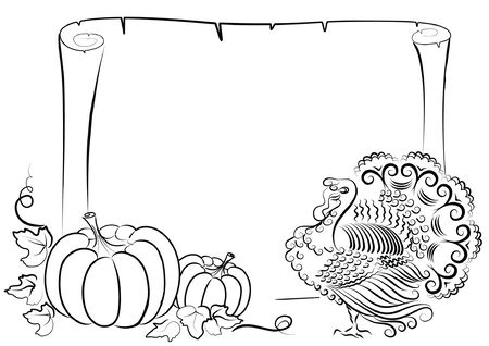 Thanksgiving background on white. graphic. Vector